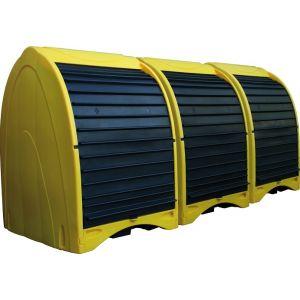 Box de stockage 4 fûts - 485 L