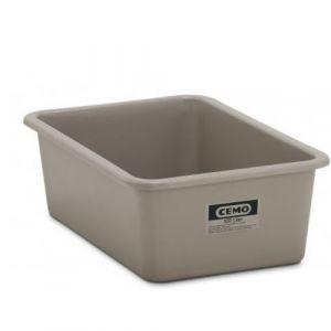 Bac rectangulaire rigide - gris-550 L