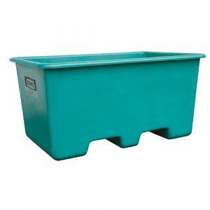 Bac rectangulaire avec passage de fourche - vert - 400 L