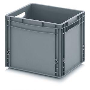 Bac plastique norme Europe - poignées ouvertes - 35 L