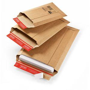 Pochettes carton rigide -bande adhésive - 340x500 mm