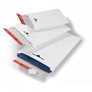 Pochettes carton rigide -bande adhésive - 235x310 mm -lot 20