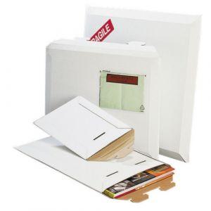 Pochettes carton rigide - patte de vérrouillage - 250x360 mm