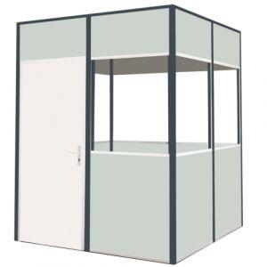 Cabine simple paroi mélaminé 3 cotés 2x2m