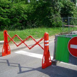 Barrière extensible de chantier