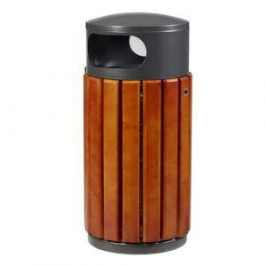 Poubelles d'extérieur acier et bois
