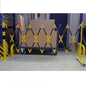 Barrière extensible sur poteau