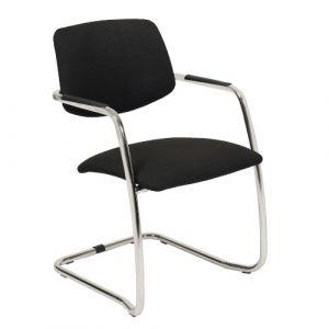 Chaise visiteur tissu non feu M1 noir