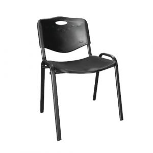 Chaise visiteur - plastique - noir
