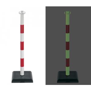Poteaux PVC photoluminescents -  (lot de 3 pièces)