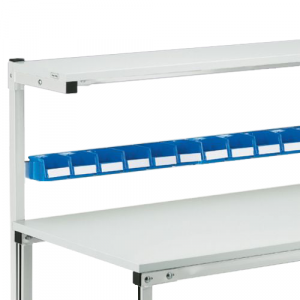 Rail porte bacs pour table légère 1500mm