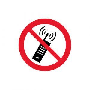 Panneau interdiction - téléphone