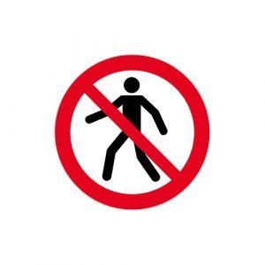 Panneau interdiction - Piéton