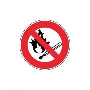 Panneau interdiction - Feu