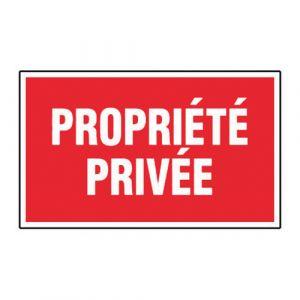 Panneau interdiction - Propriété privée