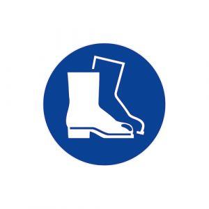 Panneau obligation - Chaussures de sécurité
