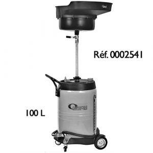 Récupérateur d'huiles usées par gravité