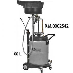 Récupérateur d'huiles usées par gravité et aspiration