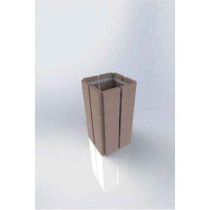 Corbeille en plastique recyclé style urbain - 70L