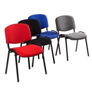 Chaise visiteur en tissu