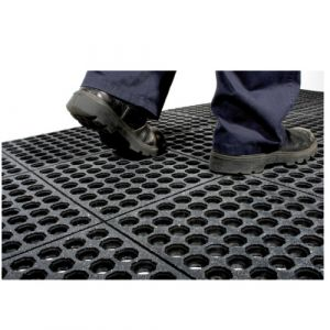 Tapis anti fatigue haute résistante - dalles nitriles