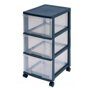 Bloc mobile 3 tiroirs Noir