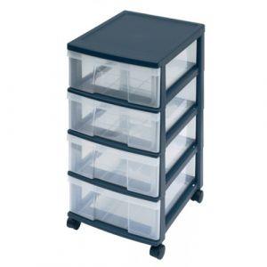 Bloc mobile 4 tiroirs noir