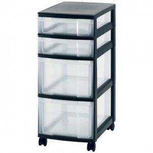 Bloc mobile 4 tiroirs 2x85 2x180 noir