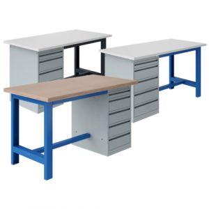 Établi coffre socle - 1800x750mm Bleu industrie