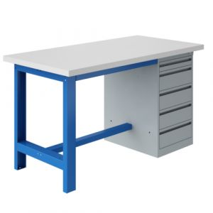 Établi coffre socle - 2000x750 mm Bleu industrie