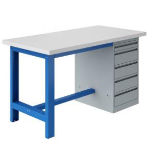Établi coffre socle - 2000x750mm Bleu industrie