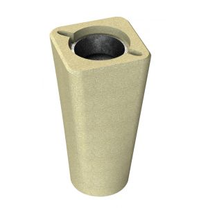Cendrier en béton - ocre sablé