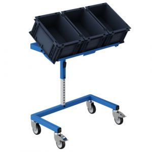 Support bac europe-tablette inclinable -610x410x630/880-bleu