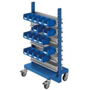 Desserte-18 rails bacs à bec - 1360x450x1640 mm