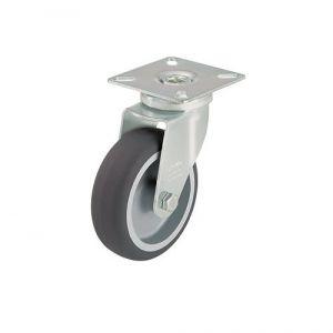 Roulette d'appareil pivotante avec platine