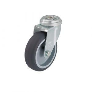 Roulette d'appareil pivotante à trou central