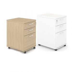 Caisson mobile 3 tiroirs - chêne