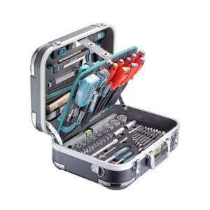 """Coffre à outils ABS """" pro chrome"""" 152 pièces"""