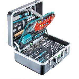 """Coffre à outils ABS """"PRO TROLLEY"""" 210 Pièces 1/4'' + 1/2''"""