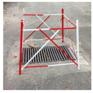Barrière en aluminium extensible
