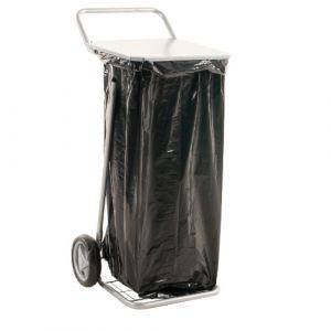 Chariot porte sac équipé d'un couvercle -pour sac de 125 L