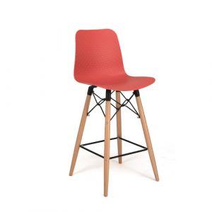 Chaise coque haute - corail