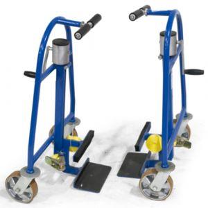 Diables élévateurs jumelés mécaniques - 600 kg