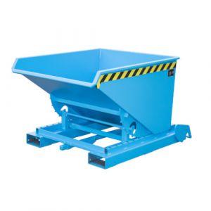 Benne basculante à système dérouleur automatique, 600 L - bleu