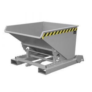 Benne basculante à système dérouleur automatique, 600 L - gris