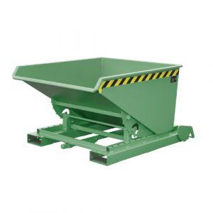 Benne basculante à système dérouleur automatique, 600 L - Vert