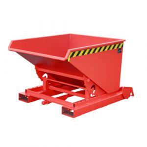 Benne basculante à système dérouleur automatique, 600 L - Rouge