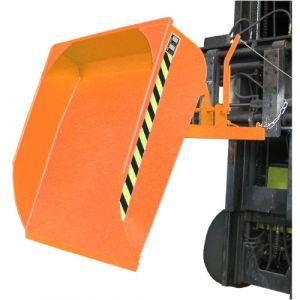 Pelle pour chariot élévateur, 500 L - orange