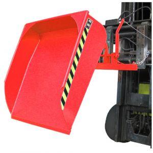 Pelle pour chariot élévateur, 500 L - Rouge