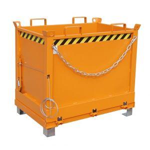 Benne à fond ouvrant 1000 L - orange